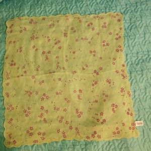 Talbots Yellow Scalloped Hankerchief/Scarf